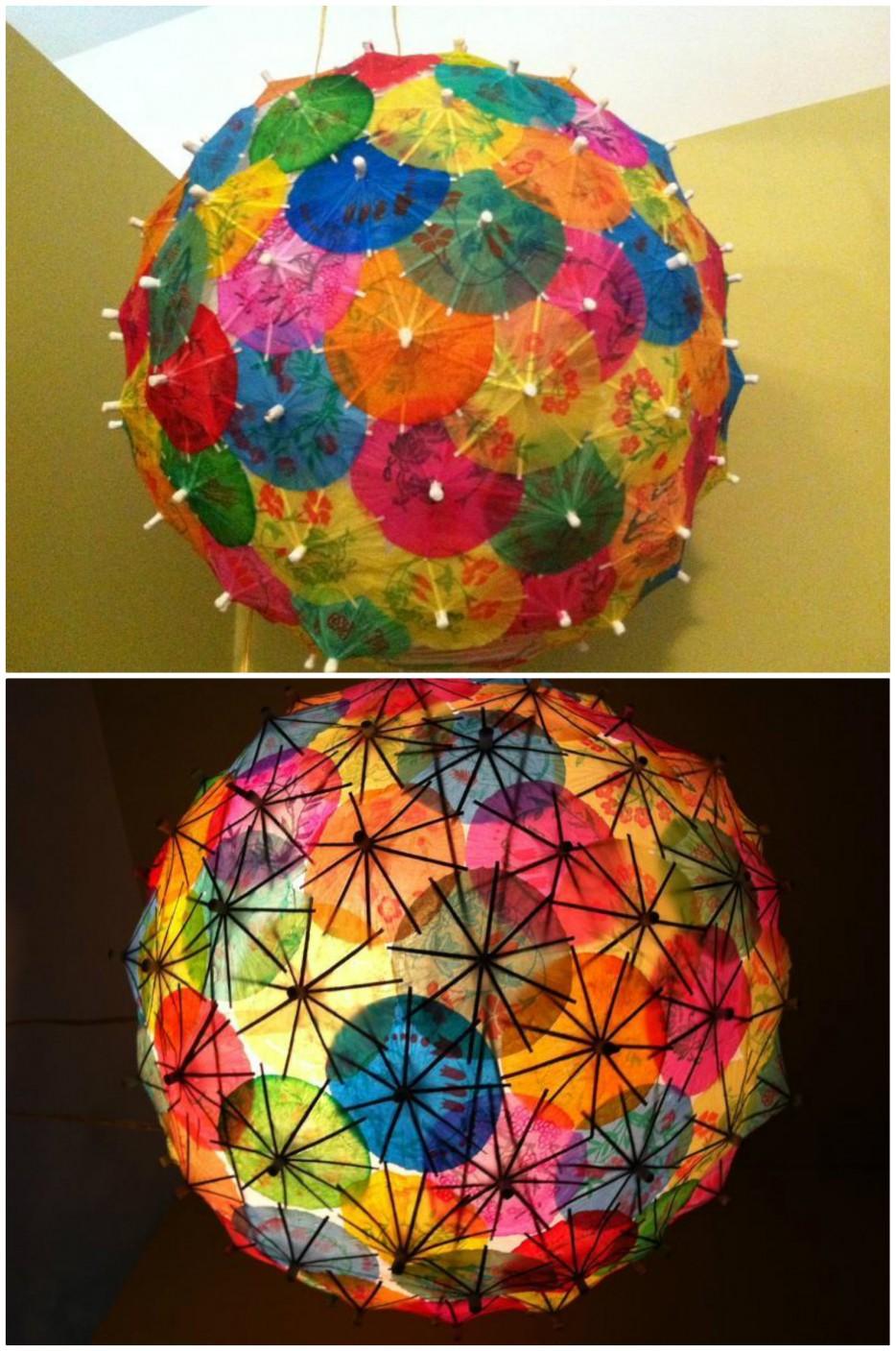 19 cocktail umbrellas collage