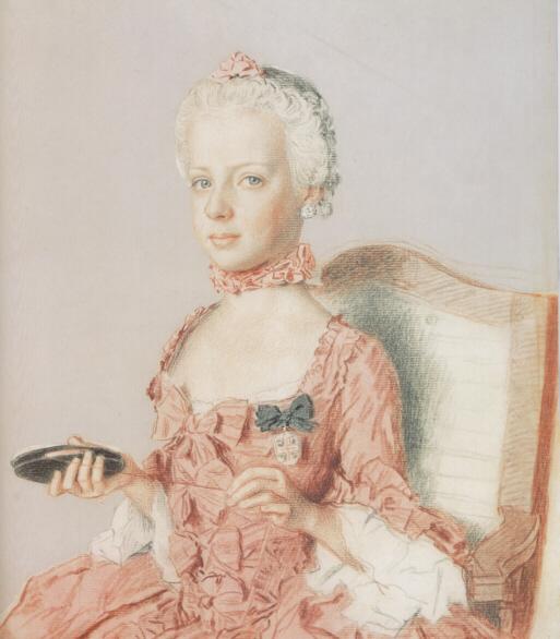 jean etienne liotard larchiduchesse marie antoinette dautriche future reine de france a lage de 7 ans 1762 02