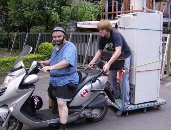 seemed like a good idea at the time funny pictures motor cycle