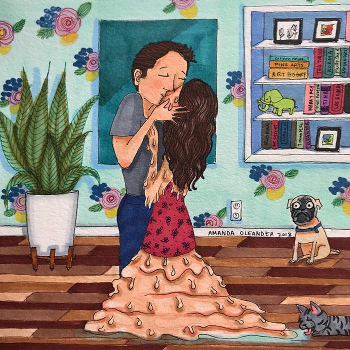 relatable couple relationships illustrations amanda oleander los angeles 40 5ad5f13673e68 700