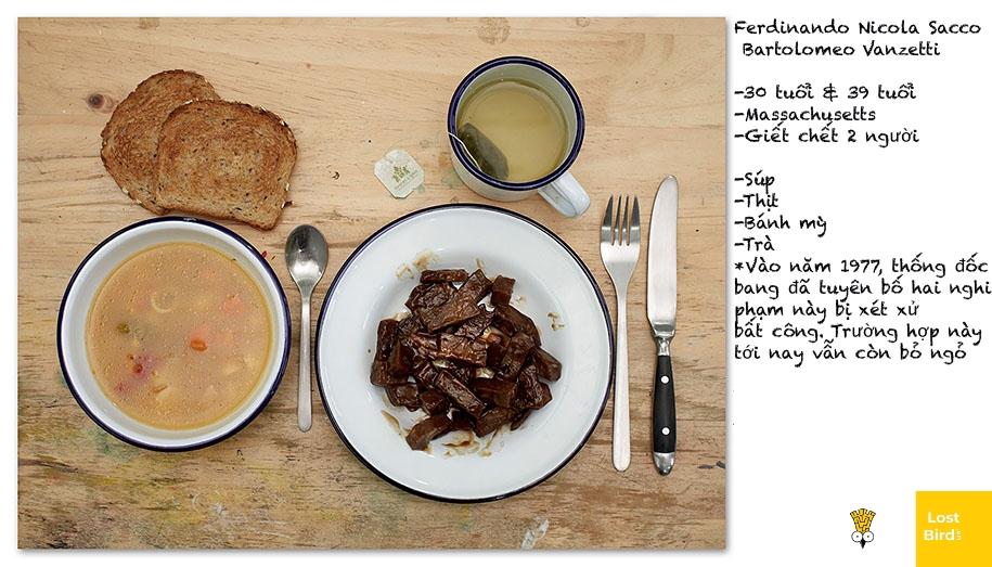 Nhiếp ảnh gia người New Zealand tái hiện lại bữa ăn cuối cùng của những tử tù
