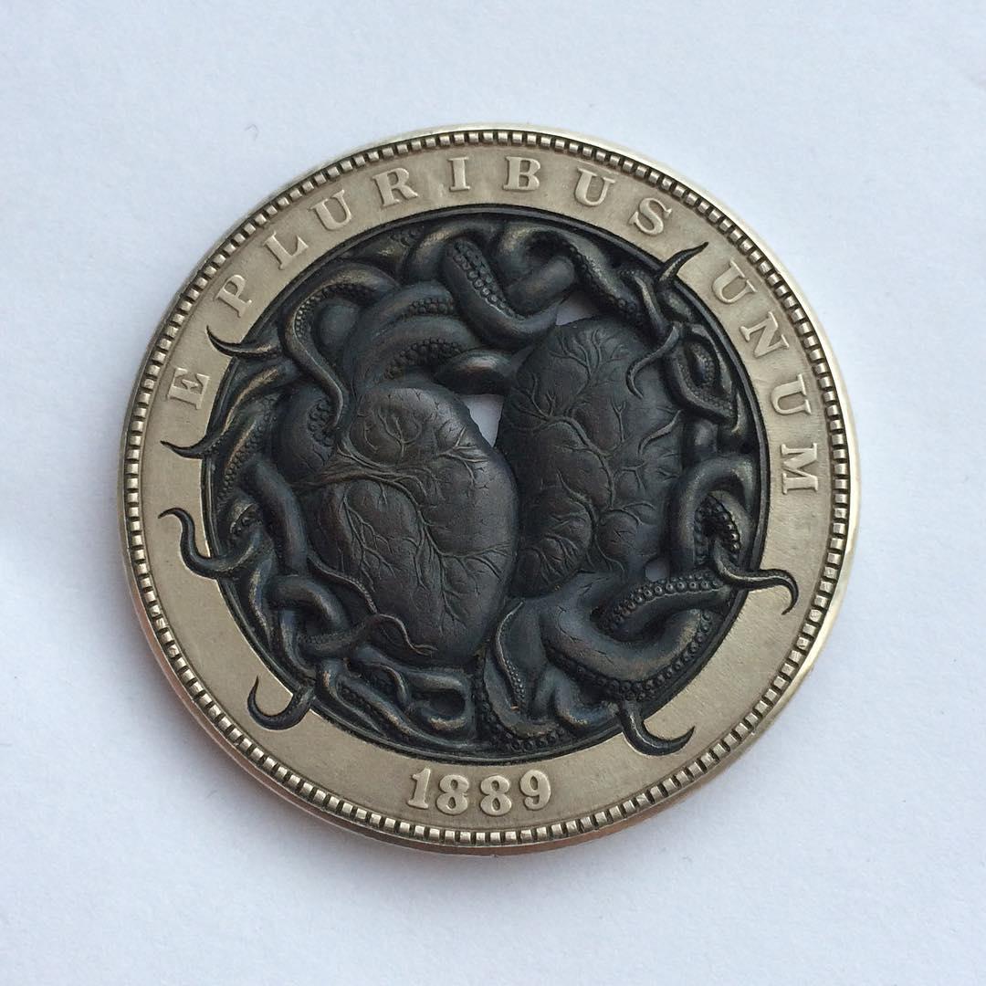 Nghệ thuật điêu khắc hô biến đồng xu cũ thành đồng xu 'chất chơi'