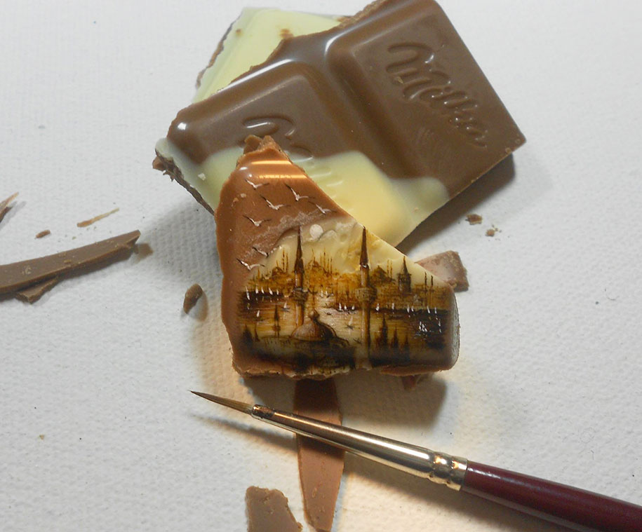 Vẽ tranh lên thực phẩm: Có thèm cũng chẳng nỡ ăn!
