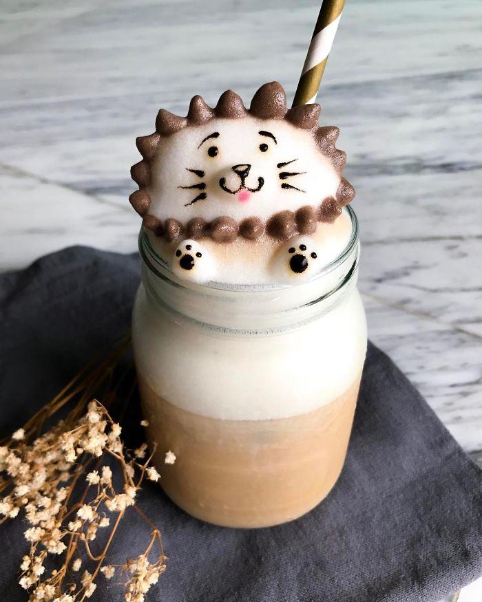 Những tách Latte không nỡ uống vì quá... cute
