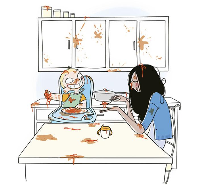 Bộ ảnh vui nhộn 'bóc trần' cuộc sống thường nhật của những bà mẹ