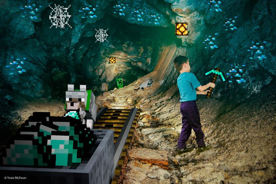 Món quà đặc biệt mà ông bố dành tặng con trai là fan 'ruột' Minecraft