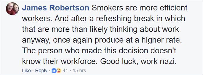 Được nghỉ phép thêm 6 ngày nhờ... không hút thuốc