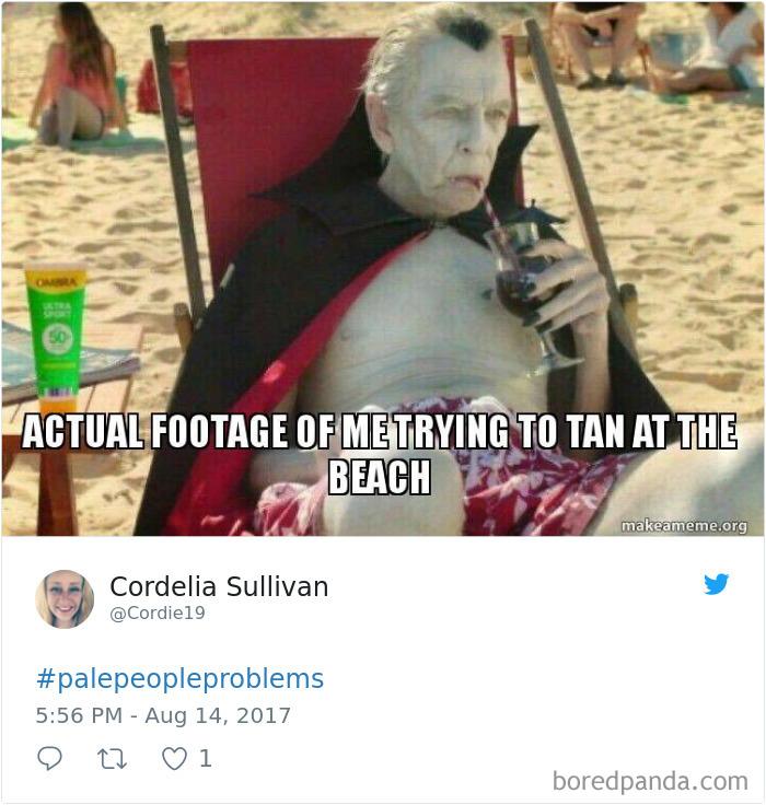 Ở nơi nào đó, da trắng quá lại chính là thảm họa...