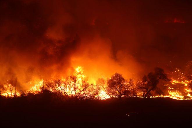Quy mô vụ cháy rừng khủng khiếp ở California (Mỹ)