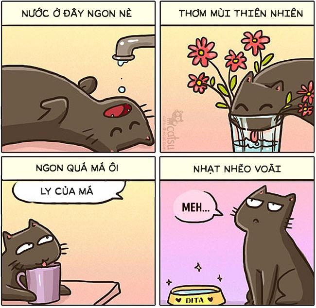 Một ngày của con sen khi trót 'yêu dại khờ' boss mèo