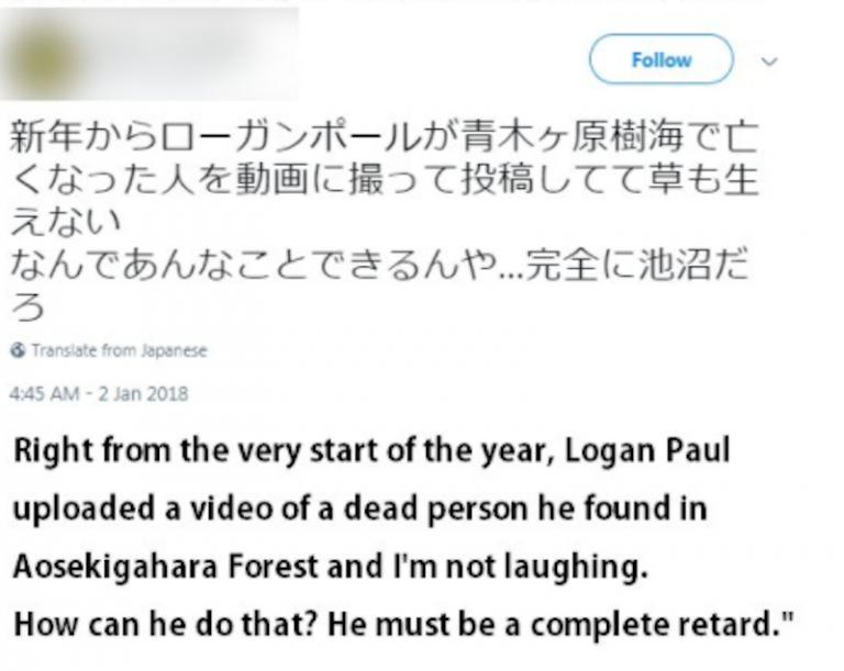 Cư dân mạng Nhật Bản nhất trí 'đuổi thằng' Logan Paul sau video gây tranh cãi