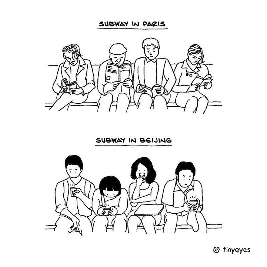 Sự khác biệt phương Đông - phương Tây thể hiện qua bộ truyện tranh dễ thương