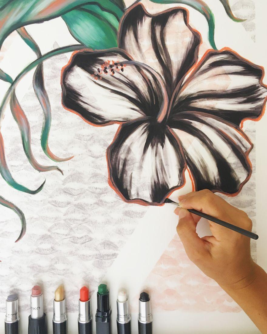 Bạn có nỡ hy sinh những thỏi son để vẽ nên một tác phẩm nghệ thuật?