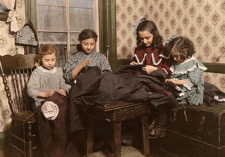 Loạt ảnh hơn 100 năm tuổi về lao động trẻ em được phục chế màu