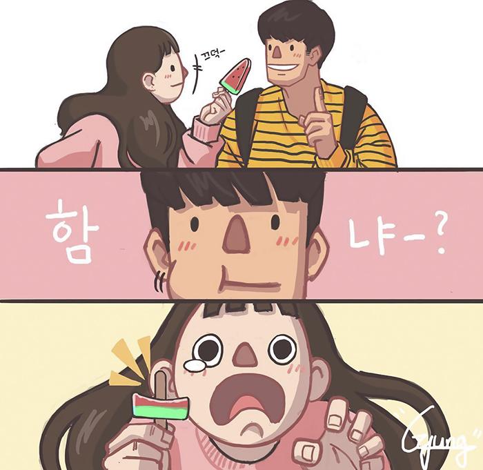 Bộ tranh tình yêu Hàn Quốc ngọt ngào khiến các F.A vật vã vì ghen tị