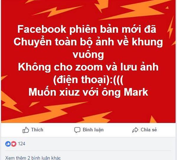 Cộng đồng Facebook nháo nhào vì bị cắt ảnh thành hình vuông, không hiển thị nhiều ảnh
