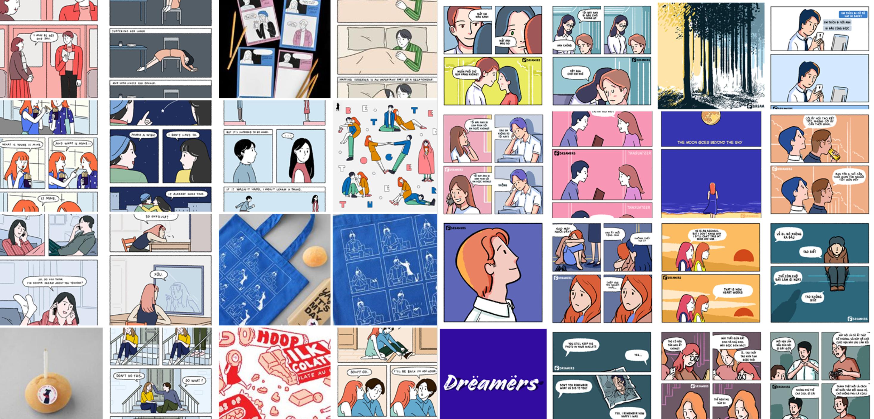 Sự tương đồng khó hiểu giữa tranh vẽ của Sundae Kids (Thái Lan) và Những kẻ mộng mơ (Việt Nam)