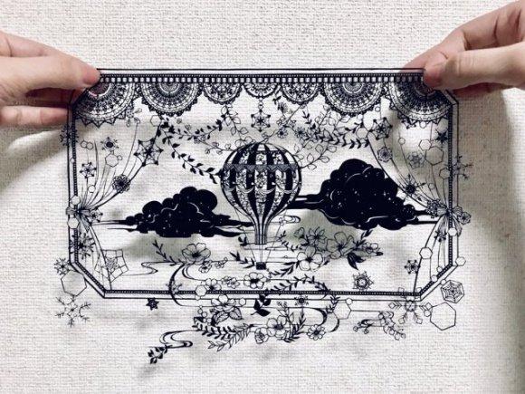 'Xiêu lòng' trước những tác phẩm nghệ thuật cắt giấy kirie Nhật Bản