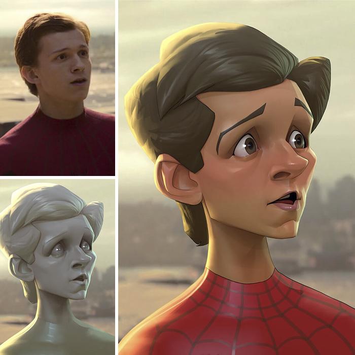 Khi các nhân vật điện ảnh nổi tiếng được vẽ lại theo phong cách Disney