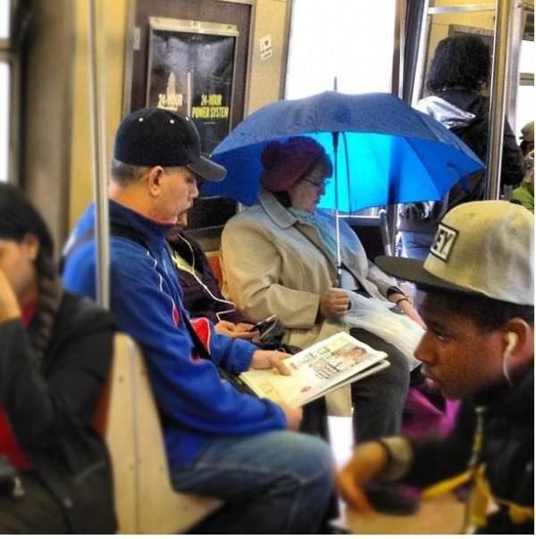 Những hành khách 'có một không hai' trên tàu điện ngầm New York
