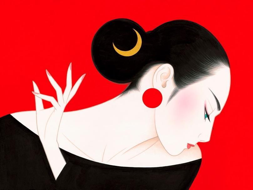 Chiêm ngưỡng vẻ đẹp phụ nữ Nhật Bản qua nét vẽ của họa sĩ đại tài