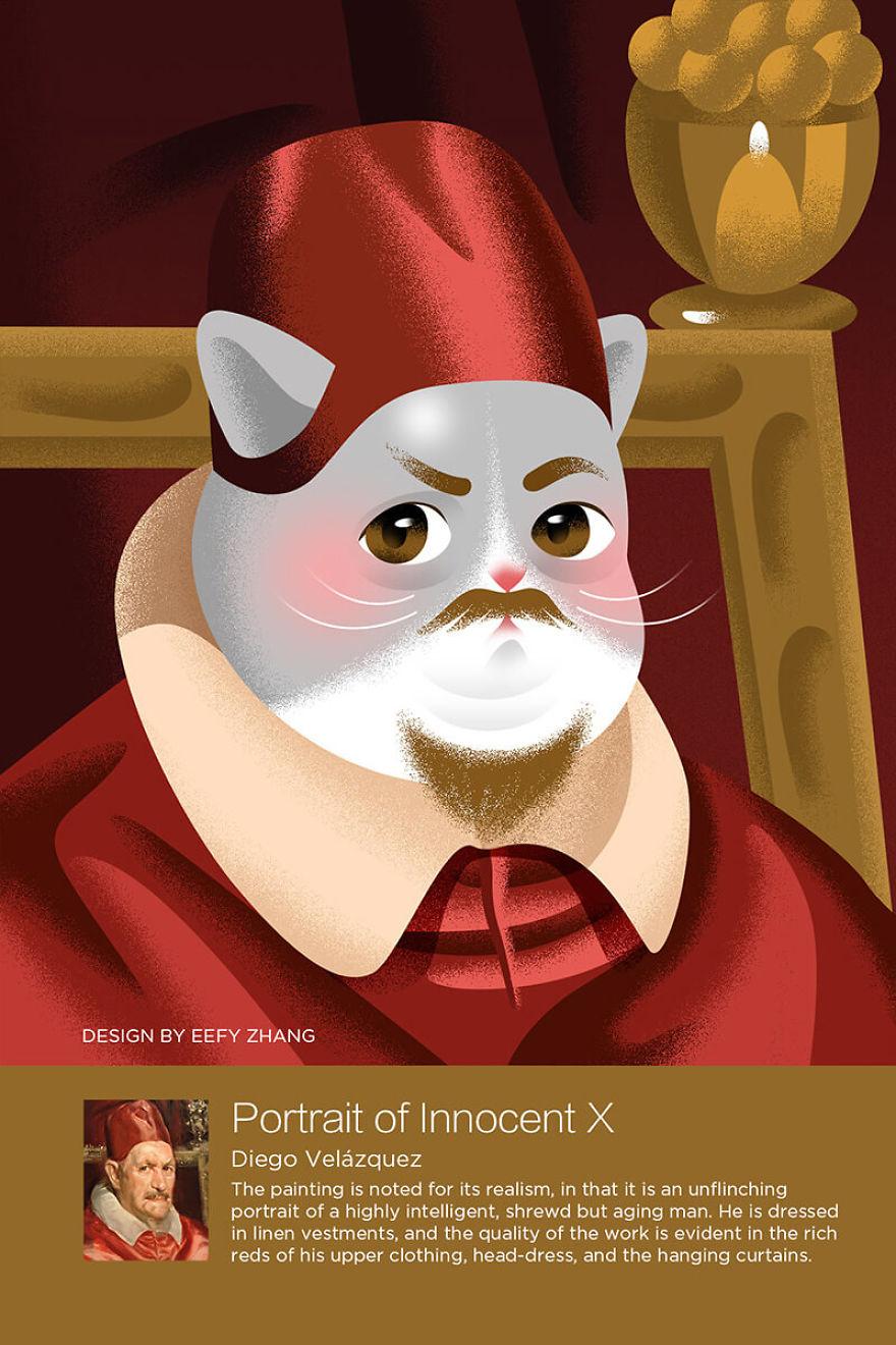 Bộ tranh: Khi loài mèo thống trị thế giới hội hoạ