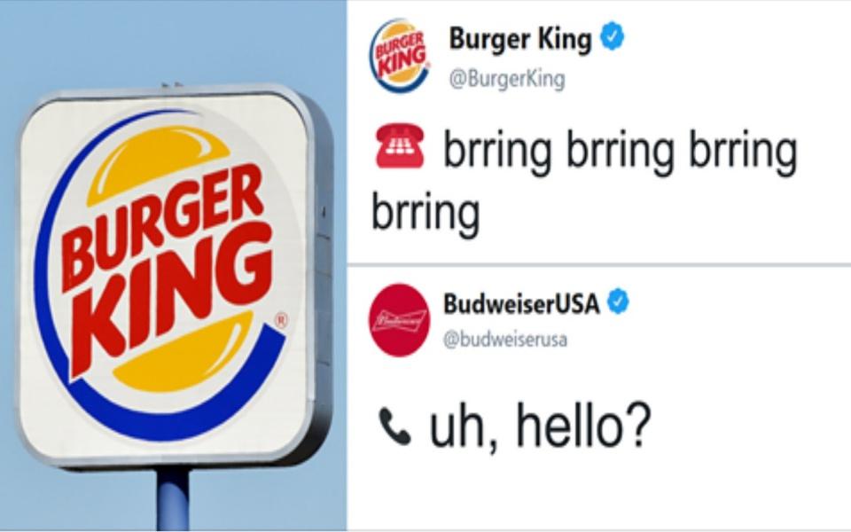 Burger King và Budweiser náo loạn Twitter bằng đoạn hội thoại 'lầy lội' không thể tưởng