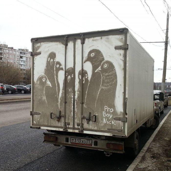 Đừng vội rửa xe vì biết đâu bạn sẽ bỏ lỡ một 'tác phẩm nghệ thuật' đẹp mắt
