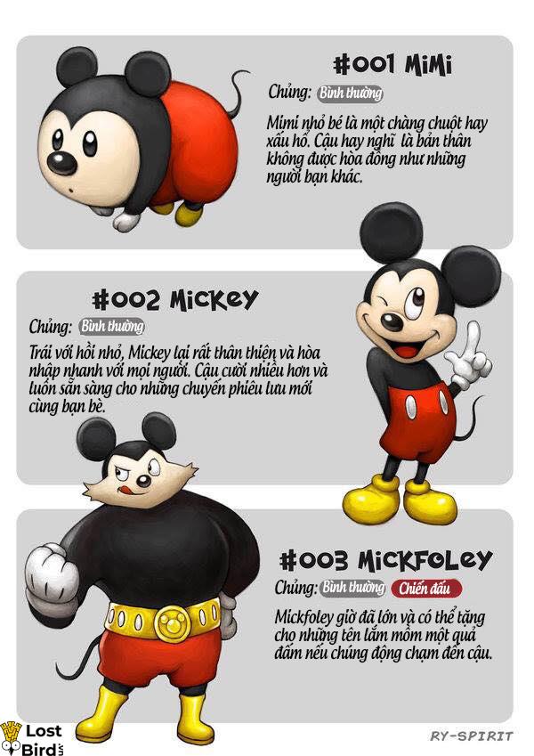 Chuyện gì sẽ xảy ra nếu nhân vật Disney cũng được nâng cấp như quái vật Pokemon?