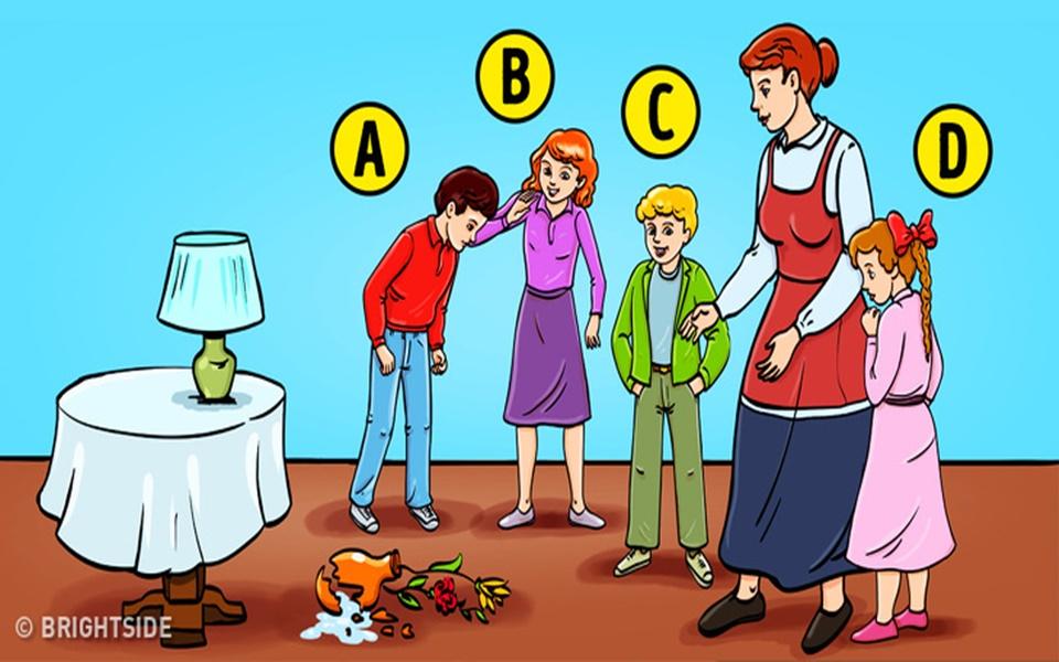 Trắc nghiệm 'Ai làm vỡ bình hoa?': Thử dùng giác quan thứ 6 tìm ra tội phạm, bạn sẽ biết mình là người thế nào