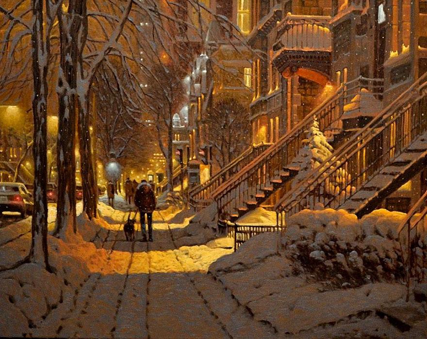 Ấm lòng khi ngắm những bức tranh tuyết rơi, hóa ra mùa đông cũng không lạnh lẽo đến thế