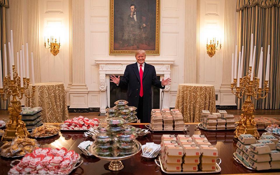 Tổng thống Donald Trump chỉ có thể đãi khách một bữa McDonald's vì chính phủ đang đóng cửa