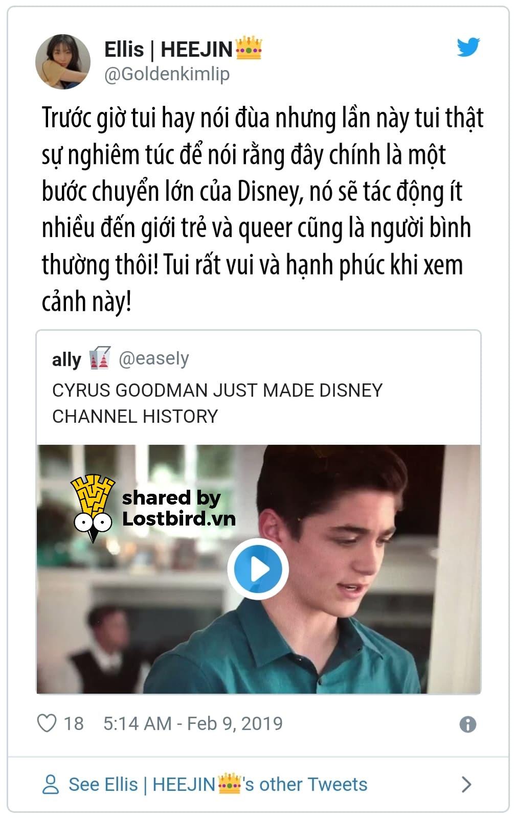 Disney Channel có nhân vật công khai là người đồng tính đầu tiên trên truyền hình