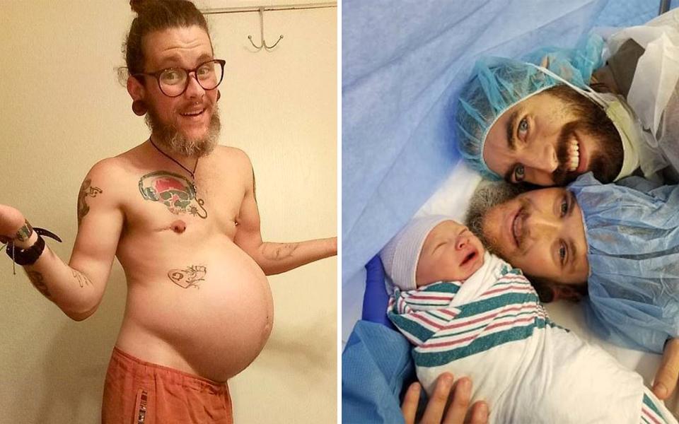 Ông bố chuyển giới từng cho rằng mình không thể có con bất ngờ hạ sinh một bé trai xinh xắn