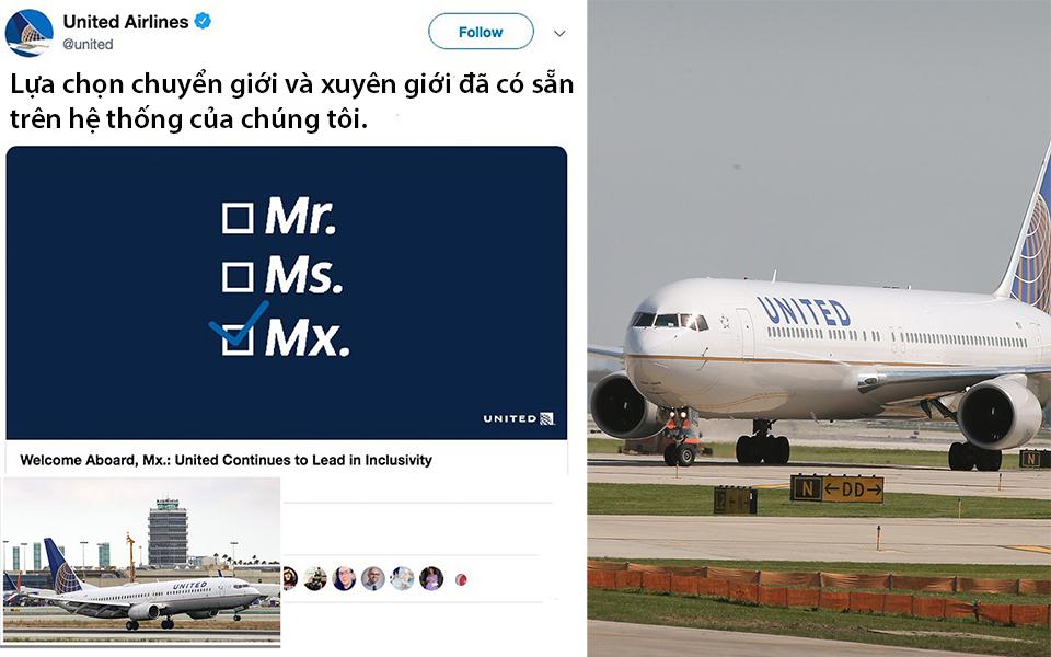 United Airlines bị chế giễu sau khi trở thành hãng hàng không đầu tiên cho phép hành khách xác định 'giới tính khác'