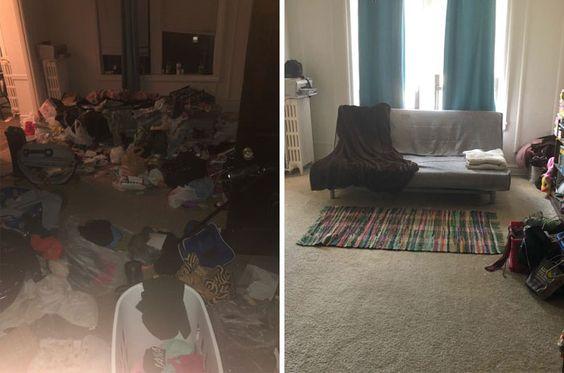 20 căn phòng sau khi dọn dẹp - phép màu cho những người mắc bệnh trầm cảm