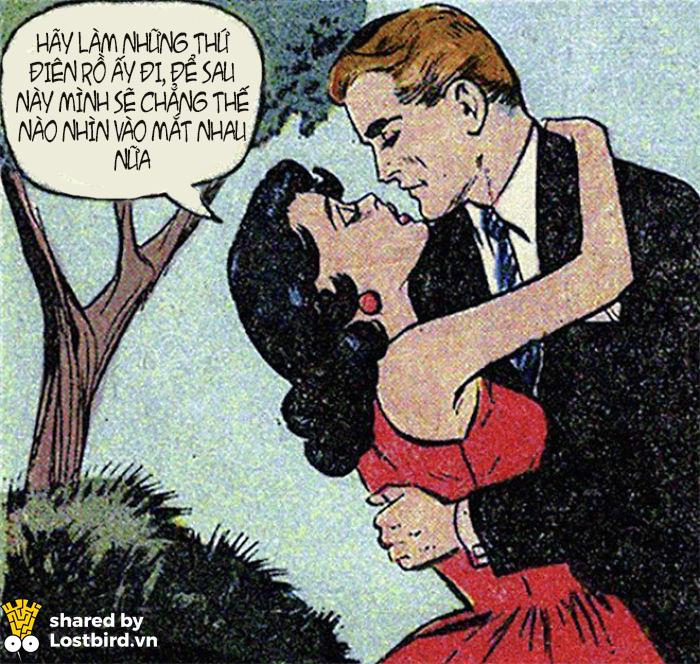 Vài mẩu truyện tranh vintage hài hước về tình yêu