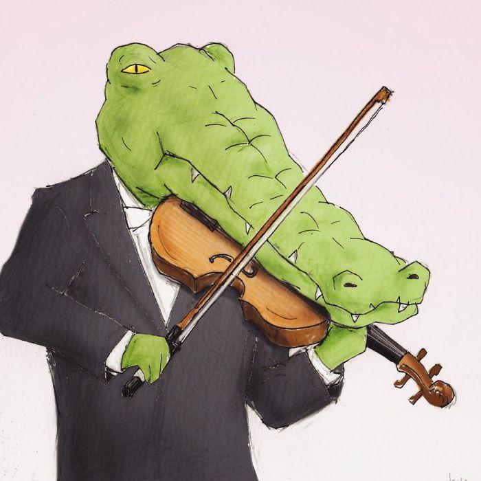 Chùm tranh hài hước: 41 vấn đề 'đau đầu' khi cá sấu làm người