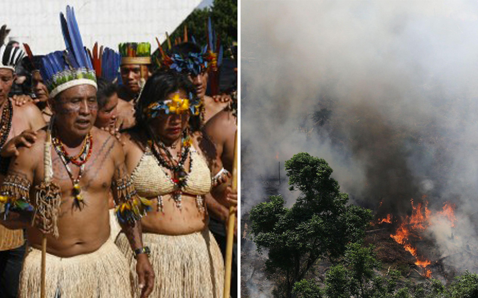 Các bộ lạc sinh sống tại Amazon đã hợp lực chống lại chính phủ Brazil để bảo vệ rừng