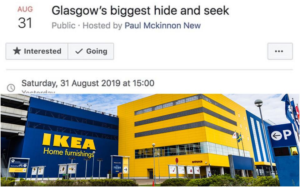 Cảnh sát Scotland được điều động sau khi 3000 người hẹn nhau chơi trốn tìm ở IKEA