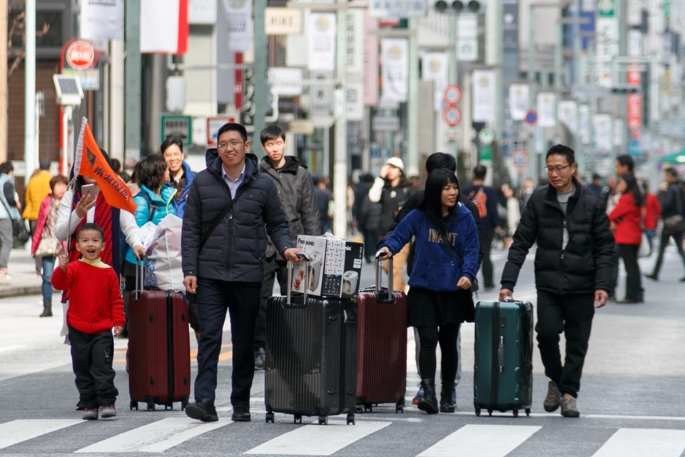 Khách du lịch Trung Quốc 'quay lưng' với Hong Kong, Đài Loan, du lịch Nhật Bản ghi nhận sự tăng trưởng kỉ lục
