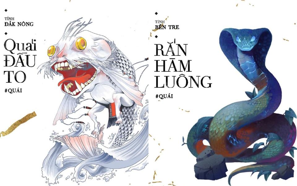 Bộ tranh 'Yêu, Ma, Quỷ, Quái' đặc trưng Việt Nam đầu tiên được ra mắt