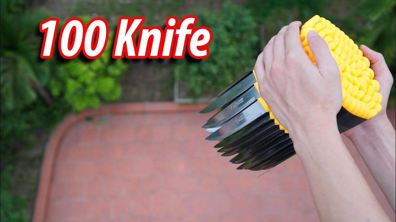 NTN Vlogs đăng clip thả 100 dao trên cao xuống bị dân mạng đồng loạt đòi tẩy chay