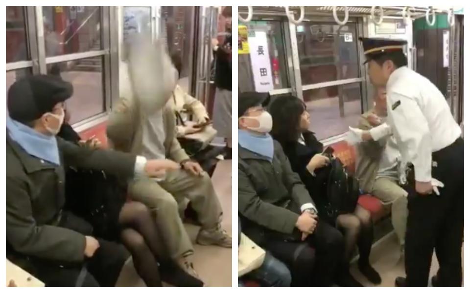 Cô gái Nhật Bản bị ông lão đánh vì bắt chéo chân trên tàu điện ngầm