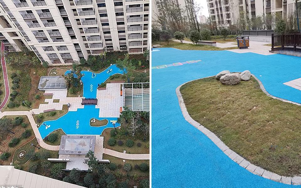 Mua căn hộ cao cấp, chủ nhà nhận lại 'hồ bơi' bằng thảm nhựa