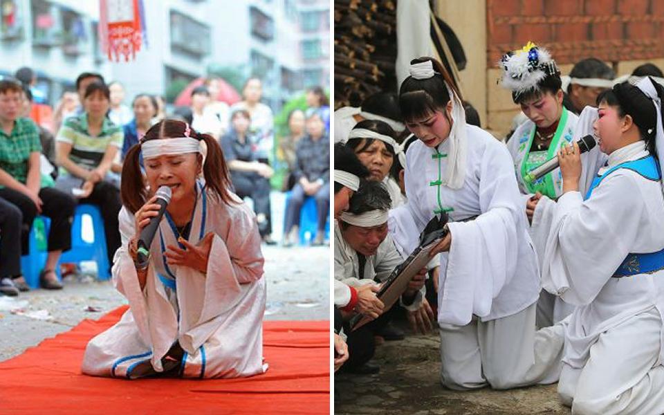 Người Trung Quốc có thể kiếm được gần 645 triệu VNĐ/năm khi làm nghề khóc thuê tại đám tang