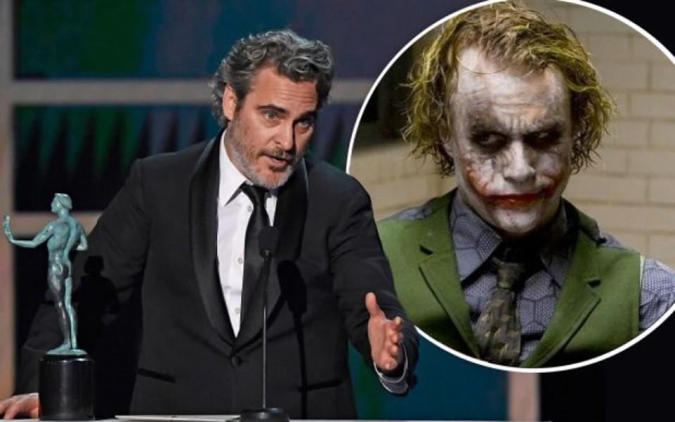 Nhận giải SAG, Joaquin Phoenix tri ân cố 'Joker' Heath Ledger, 'cà khịa' Leonardo DiCaprio và Christian Bale