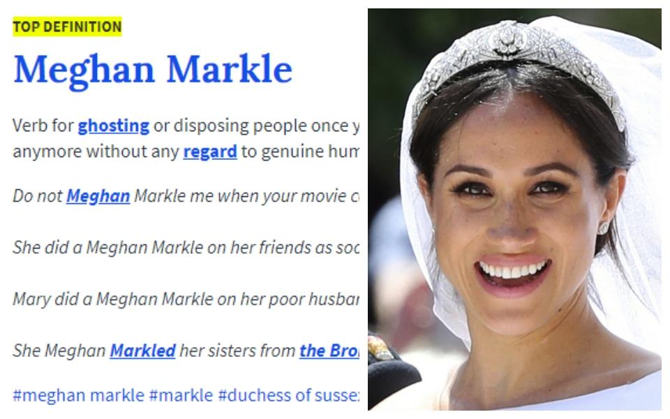 'Meghan Markle' giờ đã trở thành một từ lóng với ý nghĩa đầy châm biếm trên Urban Dictionary