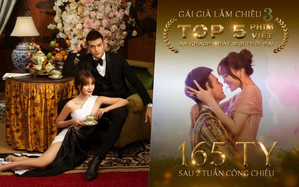 Cán mốc 165 tỷ sau 2 tuần, 'Gái Già Lắm Chiêu 3' lọt top 5 phim Việt ăn khách nhất mọi thời đại