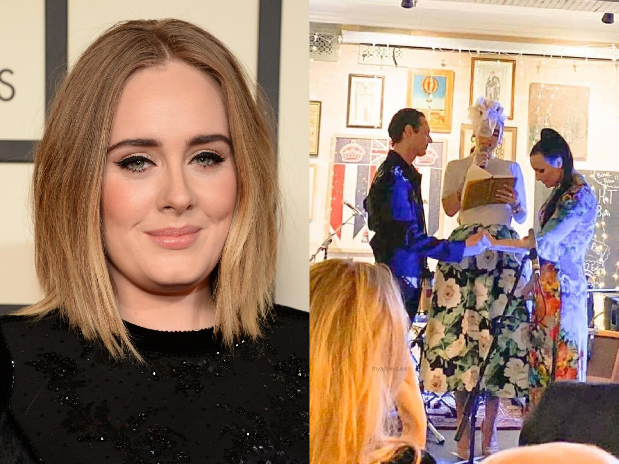 Adele làm chủ hôn nhưng đẹp lấn át cả cô dâu